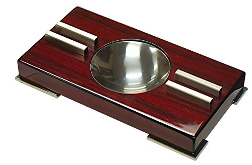 Prestige Import Group - Contemporary Modern High Gloss Ashtray - Color: Cherry Lacquer