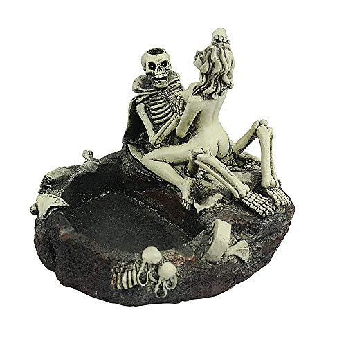 Cigar Ashtray Halloween Skull Sexy Man Ashtray Large Cigarette Ashtray Stand Use as Outdoor Indoor Cool Resin Decoration Gift for Father Boyfriend Lady Girl Women by LLAMEVOL