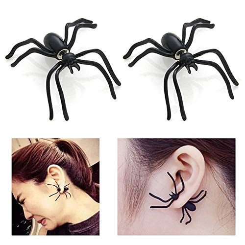 Halloween Costumes for Women Girls, Halloween Stud Earrings for Women Girls, Spider Earrings Scary Funny Spider Halloween Decorations Cosplay Party Supplies Favors Gifts
