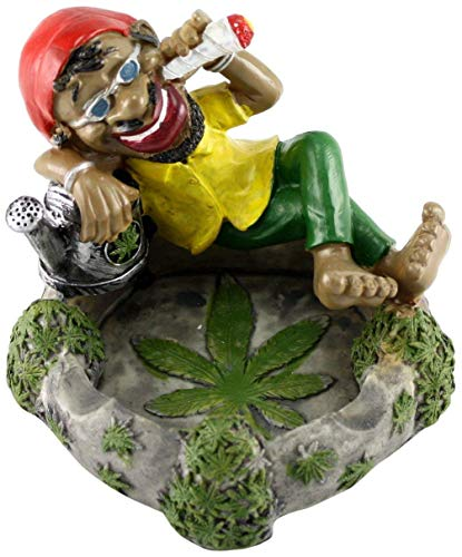 Fess Products Jamaican Chilling Man with Glasses Holding Cigarette Ashtray
