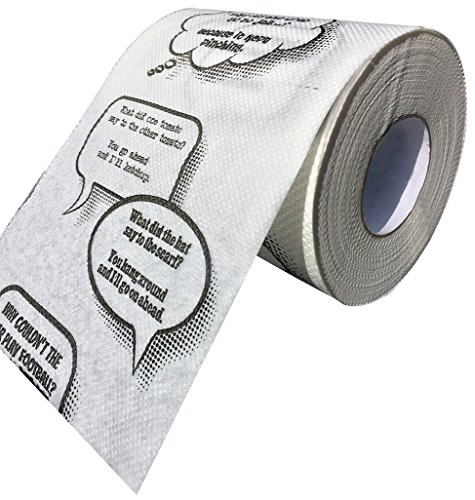 Ideas In Life Joke Toilet Paper – Novelty Funny Gag Gift Bathroom Paper Roll Jokes On Every Square Fits On Any Holder